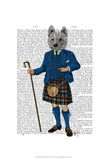 West Highland Terrier in Kilt Poster autor Fab Funky