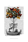 Butterfly Airship Art by  Fab Funky