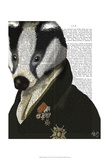 Badger the Hero Posters by  Fab Funky