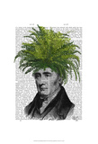 Fern Head Plant Head Posters by  Fab Funky