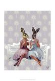 Rabbit Chat Affiches par  Fab Funky