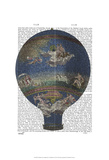 Machine Aerostatique Hot Air Balloon Posters by  Fab Funky