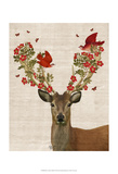 Deer and Love Birds Posters by  Fab Funky