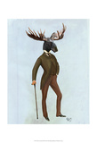 Moose In Suit Full Print by  Fab Funky