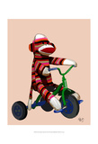 Sock Monkey Tricycle Posters by  Fab Funky