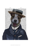 Jack Russell in Boater Prints by  Fab Funky