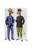 Golfing Giraffes Posters by  Fab Funky