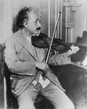 Albert Einstein Playing Violin Photo