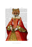 Fox Queen Poster by  Fab Funky