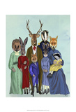 Woodland Family Posters by  Fab Funky