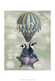 Fab Funky - Flying Penguins - Art Print