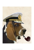 Basset Hound Sea Dog Poster by  Fab Funky