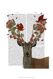 Deer and Love Birds Prints by  Fab Funky