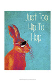 Too Hip To Hop Blue Posters by  Fab Funky