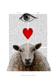 I Heart Ewe Prints by  Fab Funky