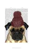 Snug Pug Posters by  Fab Funky