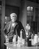 Thomas Edison in His Lab Photo