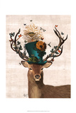 Mad Hatter Deer Posters av  Fab Funky