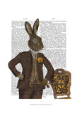 Dapper Hare Posters by  Fab Funky