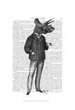 Triceratops Man 1 Dinosaur Prints by  Fab Funky