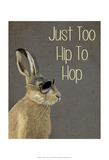Too Hip To Hop Grey Posters by  Fab Funky