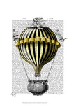 Baroque Fantasy Balloon 2 Poster by  Fab Funky