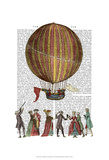 Hot Air Balloon And People Prints by  Fab Funky