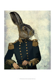 Lieutenant Hare Print by  Fab Funky