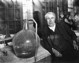 Thomas Edison in His Laboratory Photo