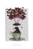 Blackbird In Teacup Posters par  Fab Funky