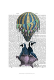 Flying Penguins Plakat autor Fab Funky