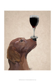Red Setter Dog Au Vin Prints by  Fab Funky