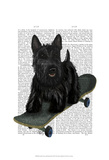 Scottish Terrier and Skateboard Posters by  Fab Funky