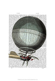 Blanchard Vintage Hot Air Balloon Prints by  Fab Funky