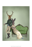 Mr Deer and Mrs Rabbit Posters par  Fab Funky