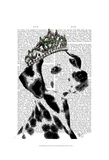 Dalmatian with Tiara Prints by  Fab Funky