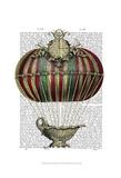 Baroque Fantasy Balloon 3 Prints by  Fab Funky