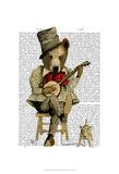Fab Funky - Banjo Bear - Poster
