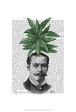 Chinese Evergreen Head Plant Head Posters by  Fab Funky