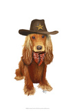 Cocker Spaniel Cowboy Poster by  Fab Funky