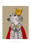 Greyhound Queen Art by  Fab Funky