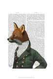 Dandy Fox Portrait Posters by  Fab Funky