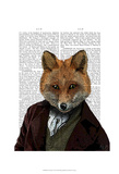 Fox Portrait 2 Print by  Fab Funky