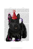 Scottish Terrier and Party Hat Posters by  Fab Funky