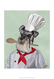 Schnauzer Chef Posters by  Fab Funky