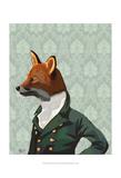 Dandy Fox Portrait Plakater af Fab Funky