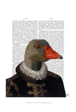 Elizabethan Goose in a Ruff Prints by  Fab Funky