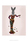 Rabbit Butterfly Dress Poster by  Fab Funky