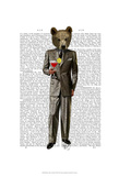 Bear with Cocktail Prints by  Fab Funky