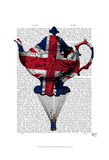 Union Jack Flying Teapot Prints by  Fab Funky